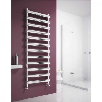Reina Deno Designer Heated Towel Rail 496mm H x 500mm W Polished Stainless Steel