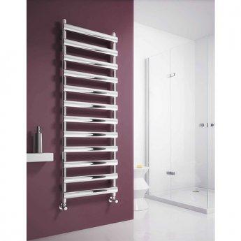Reina Deno Designer Heated Towel Rail 1488mm H x 500mm W Polished Stainless Steel