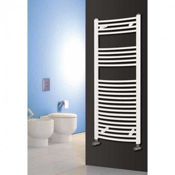 Reina Diva Curved Heated Towel Rail 800mm H x 400mm W White
