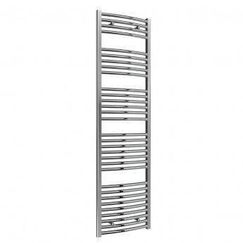Reina Diva Curved Heated Towel Rail 1800mm H x 500mm W Chrome