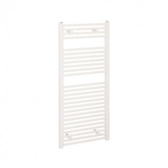 Reina Diva Electric Straight Heated Towel Rail 1200mm H x 400mm W White