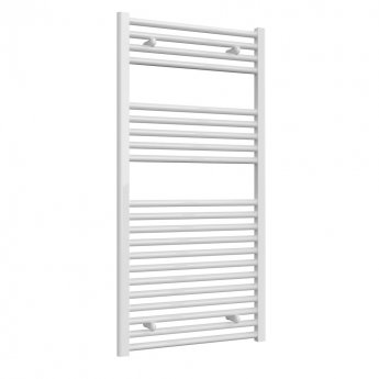 Reina Diva Straight Heated Towel Rail 1200mm H x 600mm W White