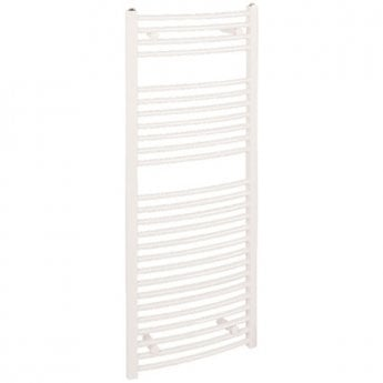 Reina Diva Thermostatic Electric Curved Heated Towel Rail 1200mm H x 400mm W White