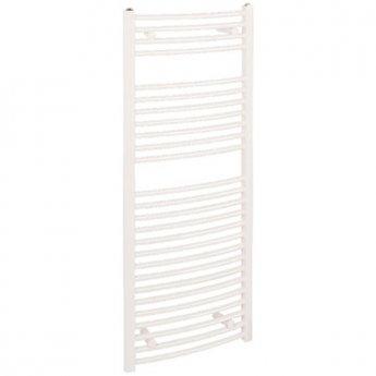 Reina Diva Electric Curved Heated Towel Rail 800mm H x 400mm W White
