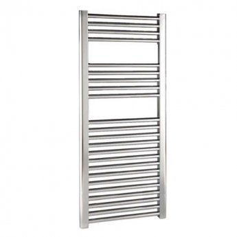 Reina Diva Thermostatic Electric Straight Heated Towel Rail 1200mm H x 600mm W Chrome
