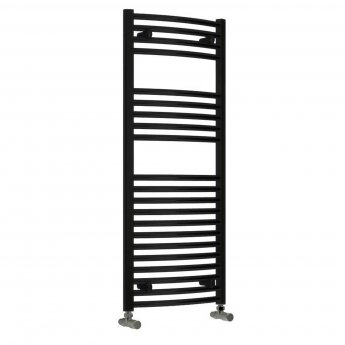 Reina Diva Electric Curved Heated Towel Rail 800mm H x 500mm W Matt Black