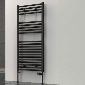 Reina Diva Flat Heated Towel Rail 1800mm H x 600mm W - Black