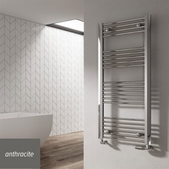 Reina Divale Straight Heated Towel Rail 1480mm H x 530mm W Anthracite
