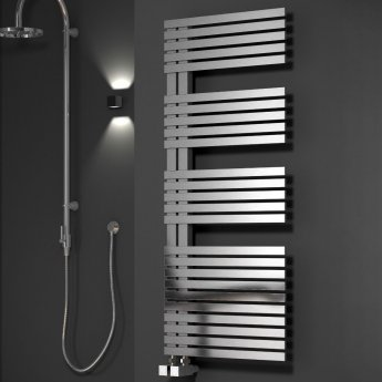 Reina Entice Designer Heated Towel Rail 770mm H x 500mm W Brushed Stainless Steel