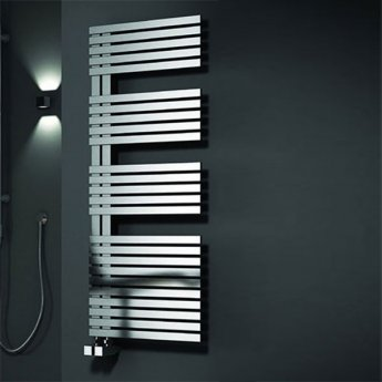 Reina Entice Designer Heated Towel Rail 1200mm H x 500mm W Brushed Stainless Steel