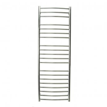 Reina Eos Curved Heated Towel Rail 720mm H x 500mm W Polished Stainless Steel