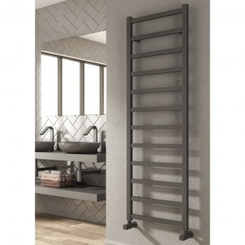 Reina Fano Designer Heated Towel Rail 720mm H x 485mm W Anthracite