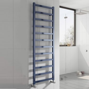 Reina Fano Designer Heated Towel Rail 720mm H x 485mm W Blue Satin