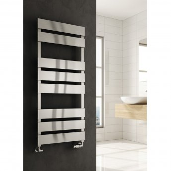 Reina Fermo Flat Panel Heated Towel Rail 710mm H x 480mm W Satin