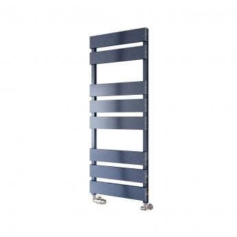 Reina Fermo Flat Panel Heated Towel Rail 1550mm H x 480mm W Blue Satin