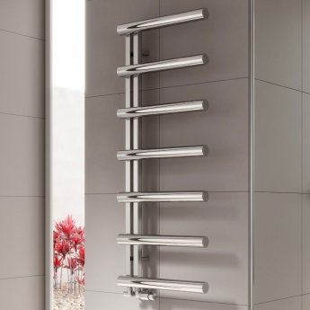 Reina Grosso Designer Heated Towel Rail 1650mm H x 500mm W Polished