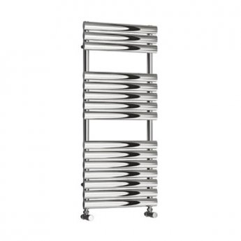 Reina Helin Designer Heated Towel Rail 1535mm H x 500mm W Polished Stainless Steel