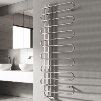 Reina Jesi Designer Heated Towel Rail 1000mm H x 500mm W Chrome