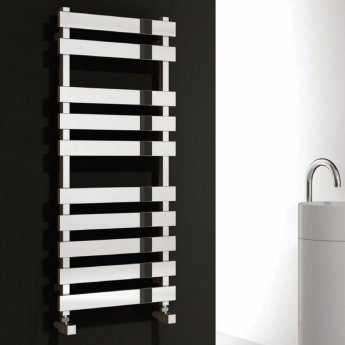 Reina Kreon Flat Panel Heated Towel Rail 780mm H x 500mm W Polished Stainless Steel