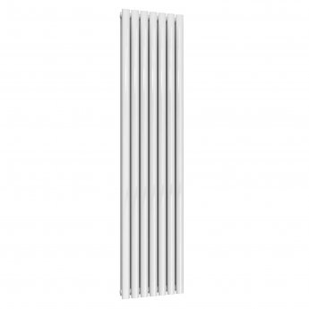 Reina Neva Double Designer Vertical Radiator 1800mm H x 413mm W White