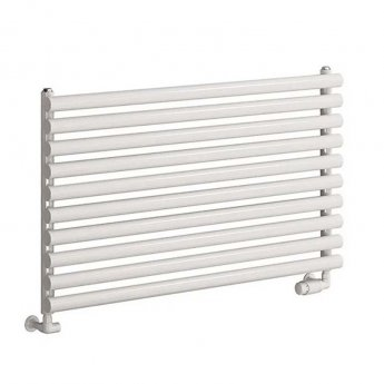 Reina Nevah Single Designer Horizontal Radiator 590mm H x 1000mm W White