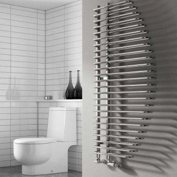 Reina Nola Designer Heated Towel Rail 1400mm H x 600mm W Chrome