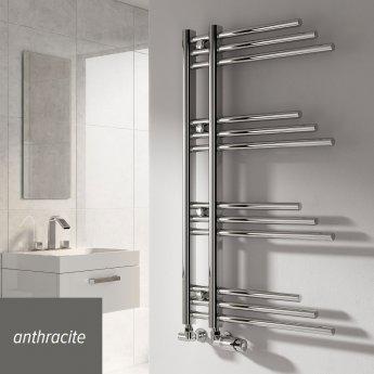 Reina Palmari Designer Heated Towel Rail 900mm H x 500mm W Anthracite