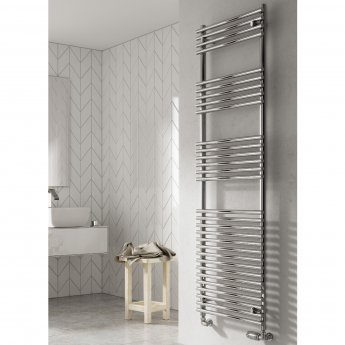 Reina Pavia Designer Heated Towel Rail 800mm H x 600mm W Chrome