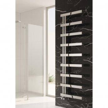 Reina Piazza Designer Heated Towel Rail 1270mm H x 500mm W Polished