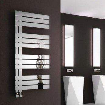 Reina Ricadi Designer Heated Towel Rail 840mm H x 500mm W Polished Stainless Steel