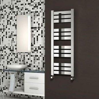 Reina Riva Flat Panel Heated Towel Rail 1300mm H x 500mm W Chrome