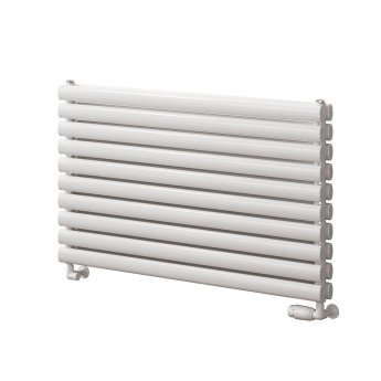 Reina Roda Single Designer Horizontal Radiator 590mm H x 800mm W White