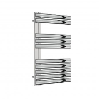 Reina Scalo Designer Heated Towel Rail 826mm H x 500mm W Polished Stainless Steel