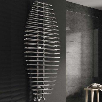 Reina Teano Designer Heated Towel Rail 1300mm H x 600mm W Chrome