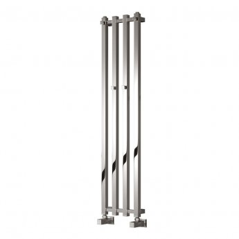 Reina Todi Designer Heated Towel Rail 1200mm H x 108mm W Chrome