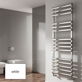 Reina Veroli Designer Heated Towel Rail 1190mm H x 480mm W White