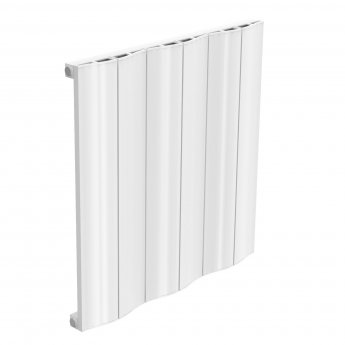 Reina Wave Single Horizontal Aluminium Radiator 600mm H x 620mm W White