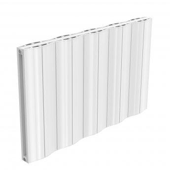 Reina Wave Double Horizontal Aluminium Radiator 600mm H x 1036mm W White