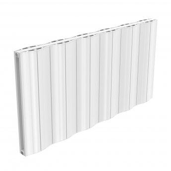 Reina Wave Double Horizontal Aluminium Radiator 600mm H x 1244mm W White
