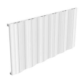 Reina Wave Single Horizontal Aluminium Radiator 600mm H x 1244mm W White