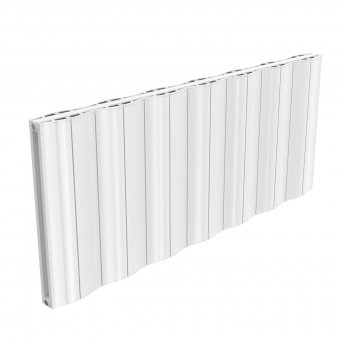 Reina Wave Double Horizontal Aluminium Radiator 600mm H x 1452mm W White