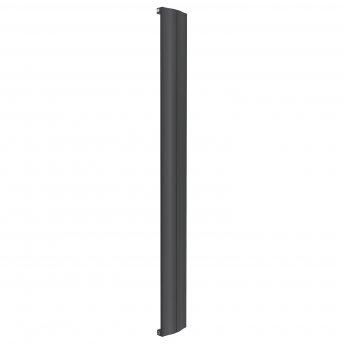 Reina Wave Single Vertical Aluminium Radiator 1800mm H x 204mm W Anthracite