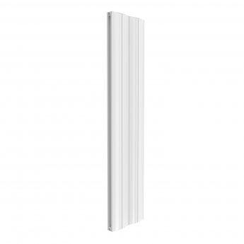 Reina Wave Double Vertical Aluminium Radiator 1800mm H x 412mm W White