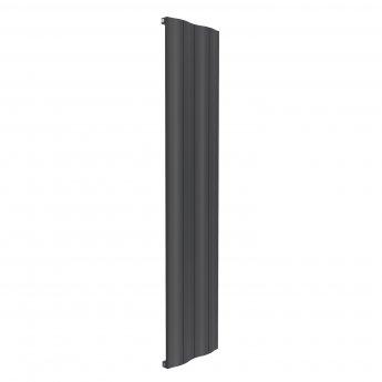 Reina Wave Single Vertical Aluminium Radiator 1800mm H x 412mm W Anthracite
