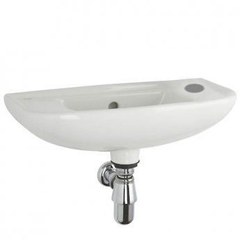 Roca Access Wall Hung Basin Right Handed 500mm W - 1 Tap Hole