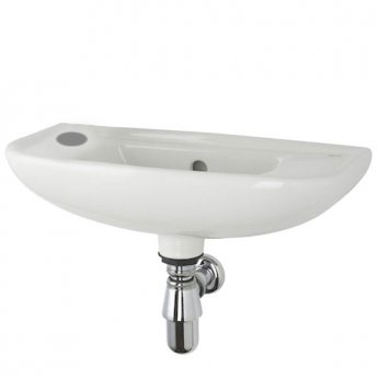 Roca Access Wall Hung Basin Left Handed 500mm W - 1 Tap Hole