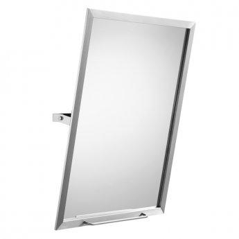 Roca Access Tilting Bathroom Mirror 600mm W - Stainless Steel