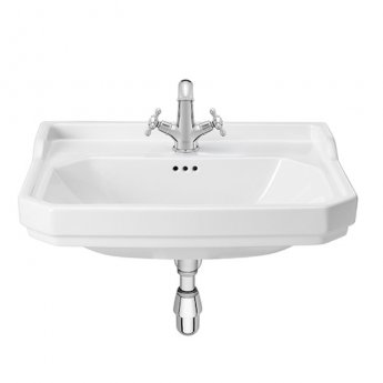 Roca Carmen Wall Hung Basin 650mm Wide - 1 Tap Hole