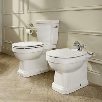Roca Carmen Rimless Close Coupled Toilet with Dual Flush Cistern - Soft Close Seat