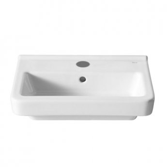Roca Dama-N Compact Wall Hung Basin, 550mm Wide, 1 Tap Hole